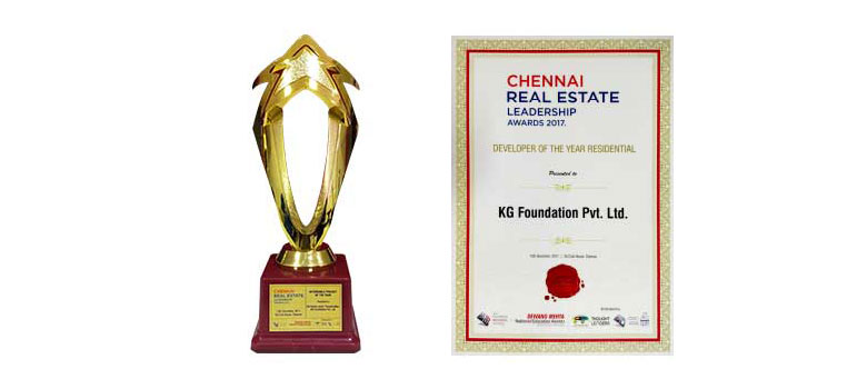 Chennai Real Estate Leadership Awards 2017 Developer Project of the Year Residential KG Foundation Pvt. Ltd.