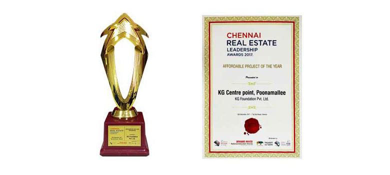 Chennai Real Estate Leadership Awards 2017 Affordable Project of the Year KG Centre Point, Poonamallee at KG Foundation Pvt. Ltd.