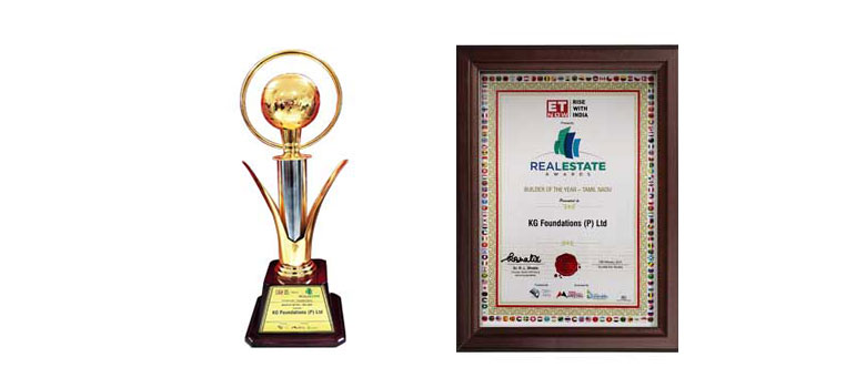 ET Now (Rise With India) Real Estate Awards Builder of the Year – 2018 KG Foundation Pvt. Ltd.